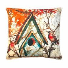 fall birdhouse outdoor throw pillow outdoor throw pillows w27