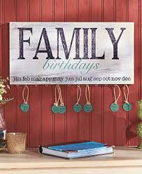 family birthday plaque