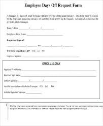 Days Off Request Form Template Time Off Request Form The F Your Mobile Device Free Printable Sample