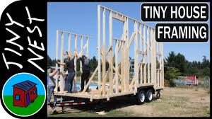 Small Picture Tiny House Framing Wall Raising Ep9 YouTube