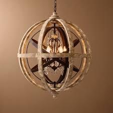retro rustic weathered wooden globe