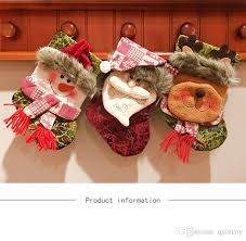 Ornament Size Chart 2018 New Christmas Stockings Decorated Christmas Tree Ornaments Gift Bags Christmas Socks Candy Bags