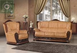 high quality living room furniture european antique leather sofa within ideas 13