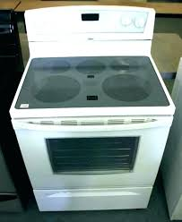 smooth top electric whirlpool white glass stove ge cooktop