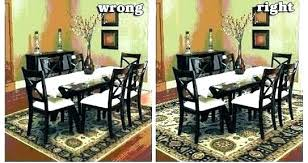 rug under kitchen table area dining s rugs room tables within remodel best for t