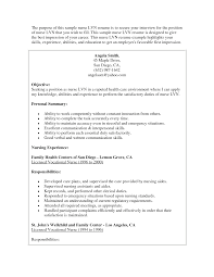 Lpn Objective For Resume Lvn Resume Objective Resume Examples New