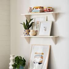 corrugated shelf brackets set of 2 white