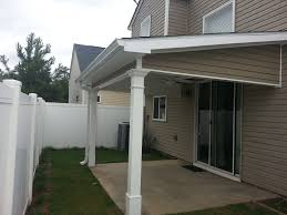 patio cover wood and modern style fan