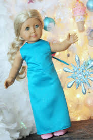 Free Printable American Girl Doll Clothes Patterns Adorable Elsa Dress Pattern For American Girl 48 Dolls