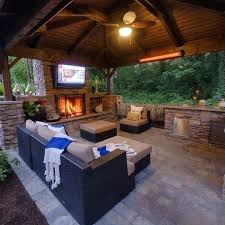 covered patio ideas. Outdoor Patio Ideas With Tv Cool Covered Fireplace Yep Work  E