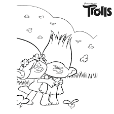 Trolls Coloring Sheets Baby Poppy Troll Pages Color Princess Free