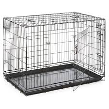 dog life dog crate double door black extra large at wilkocom