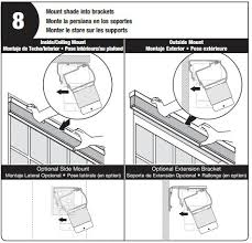 bali blinds home depot. The Shades \u201cpops\u201d Into Mounting Bracket And Is Supported By A Small Clip. In Diagram Below, You Can See How Shade Pops Position Bali Blinds Home Depot
