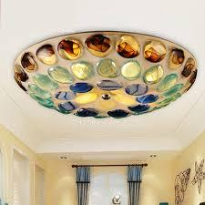multi color glass shade unique style flush mount ceiling lights