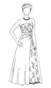 Wedding Dress Sketch Sketch Coloring Page
