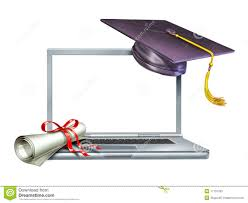 graduation education internet web online diploma stock image  graduation education internet web online diploma
