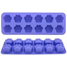 Decorative Ice Cube Trays Silicone Paw Print Ice Cube Trays Set of 100 The Animal Rescue Site 12