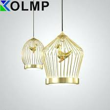birdcage pendant light chandelier gold birdcage hanging light fashion design birdcage pendant lamp suspension lighting copper