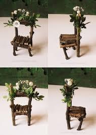 furniture fairy. Fairy Chair, White Flowers, Small, Dollhouse Miniature 1/12 Furniture E
