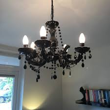 marie therese 5 light chandelier black