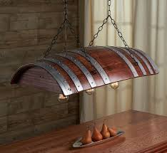 one third wine barrel hanging light