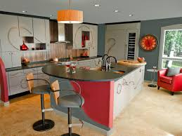 Red And Grey Kitchen Designs Kitchen Contemporary Colourful Kitchen Designs With White And