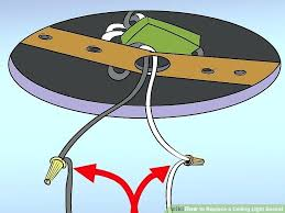 how to replace a ceiling image titled replace a ceiling light socket step 6 replace ceiling