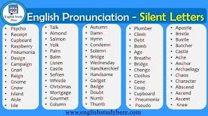 This tutorial also assists you in understanding the pronunciation of alphabets with english letters. List Of Words With Silent Letters In English Myenglishteacher Eu