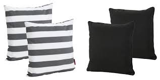 gdf studio 4 piece la jolla outdoor striped square throw pillows set contemporary outdoor cushions and pillows by gdfstudio