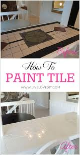 bathroom and kitchen tile. how to paint tile countertops! this is so great for outdated kitchens and bathrooms. bathroom kitchen
