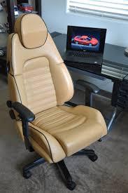 ferrari office chair. ferrari 360 leather office chair beige with black piping e
