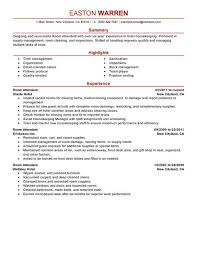 Resume Tips for Room Attendant
