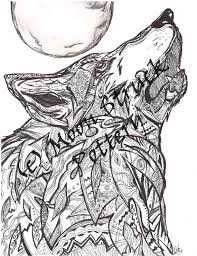 Animal Coloring Page Wolf Coloring Page Adult Coloring Page