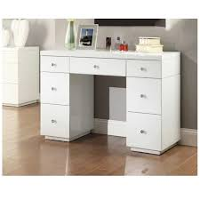 mirrored vanity table with drawers rio white glass dressing inside plan 8