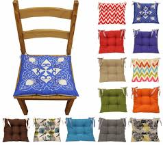 colourful seat pad dining room garden kitchen chair cushions tie many colours flat solid wood sets