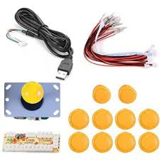 diy arcade joystick zero delay kit usb pc controller for arcade joystick ons wire harness for mame raspberry pi for us 20 99 yellow tomtop