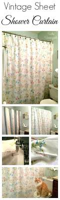 luxury vintage shower curtains creating a vintage bed sheet from the thrift into a shower luxury vintage shower curtains