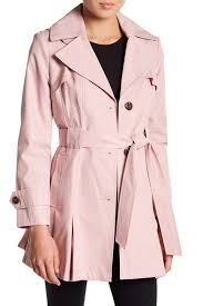 Nordstrom Rack Petite Coats Via Spiga Solid Waist Tie Raincoat Petite Nordstrom Rack 2