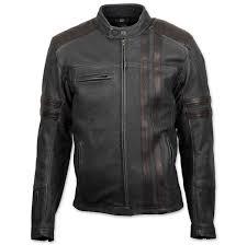 scorpion exo men s 1909 distressed black leather jacket