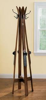 Vintage Ski Coat Rack Upcycled coat rack made from old skis Crafty Ideas Pinterest 36