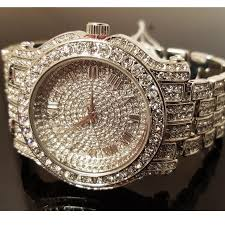Iced Gold Diamond Watch Accessories Out Poshmark New White Mens Brand