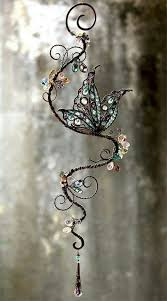 Pin by Myra McDaniel on Butterflies Wired | Crystal suncatchers, Beads and  wire, Wire jewelry