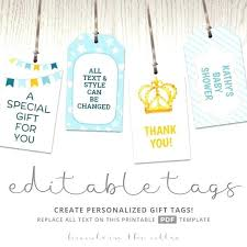 Tags For Gifts Templates Baby Gift Tag Template Madebyforay Co