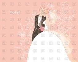wedding card with happy bride and groom vector image 58176 Bride And Groom Wedding Cards wedding card with happy bride and groom click to zoom bride and groom wedding bands