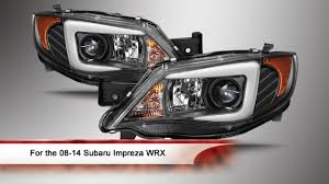 08 14 Subaru Impreza Wrx Light Bar Drl Projector Headlights