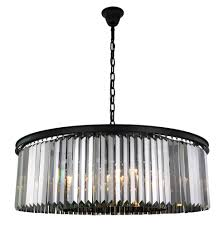 sydney 10 light matte black chandelier