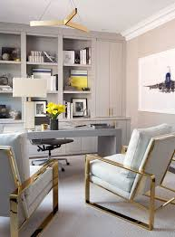 grey home office. The Study Is Packed With Luxe Details, Including A Gray Leather Hand-stitched Desk Grey Home Office R