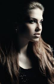 nice portrait with black background
