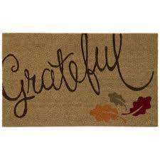 Home Accents Grateful Leaves 18 in. x 30 in. Door Mat ...