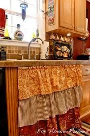 oilcloth kitchen sink curtain tru nest kitchen ideas